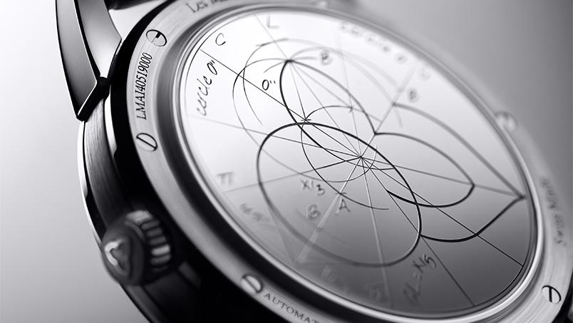Vue de dos d'une montre de la série inaugurale Les Matinaux