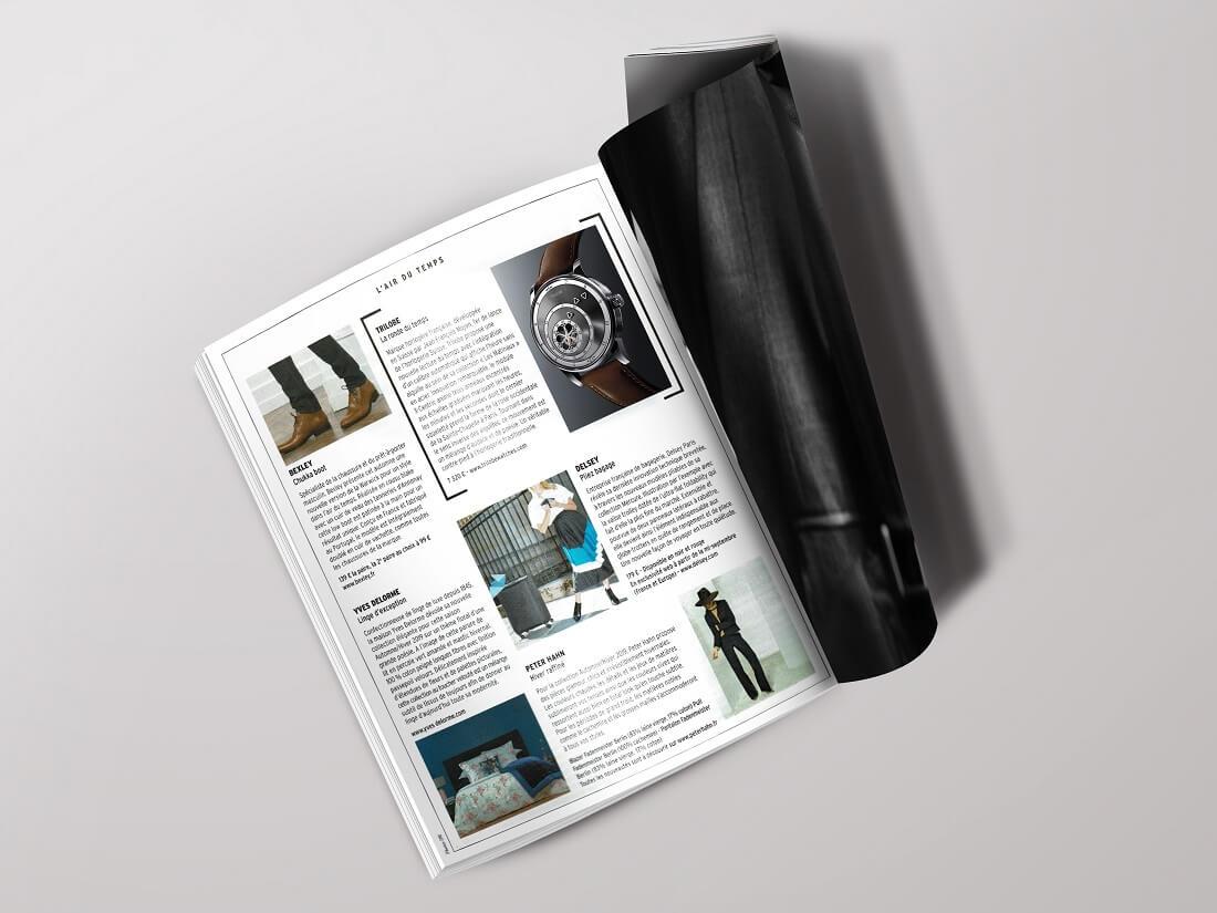 Article sur la marque de montres de luxe Trilobe dans le Figaro Magazine
