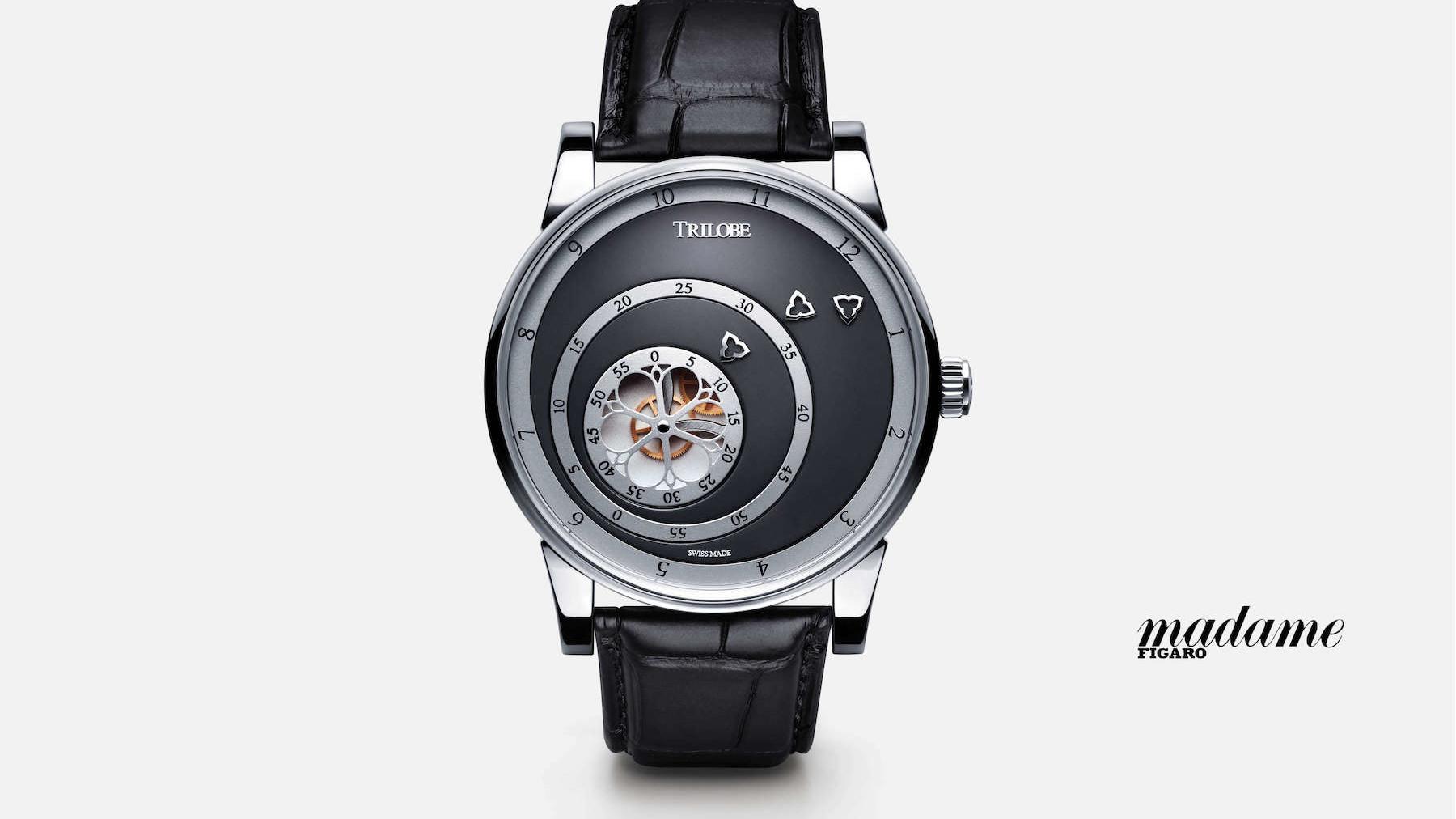Article sur la marque de montres de luxe Trilobe dans Madame Figaro