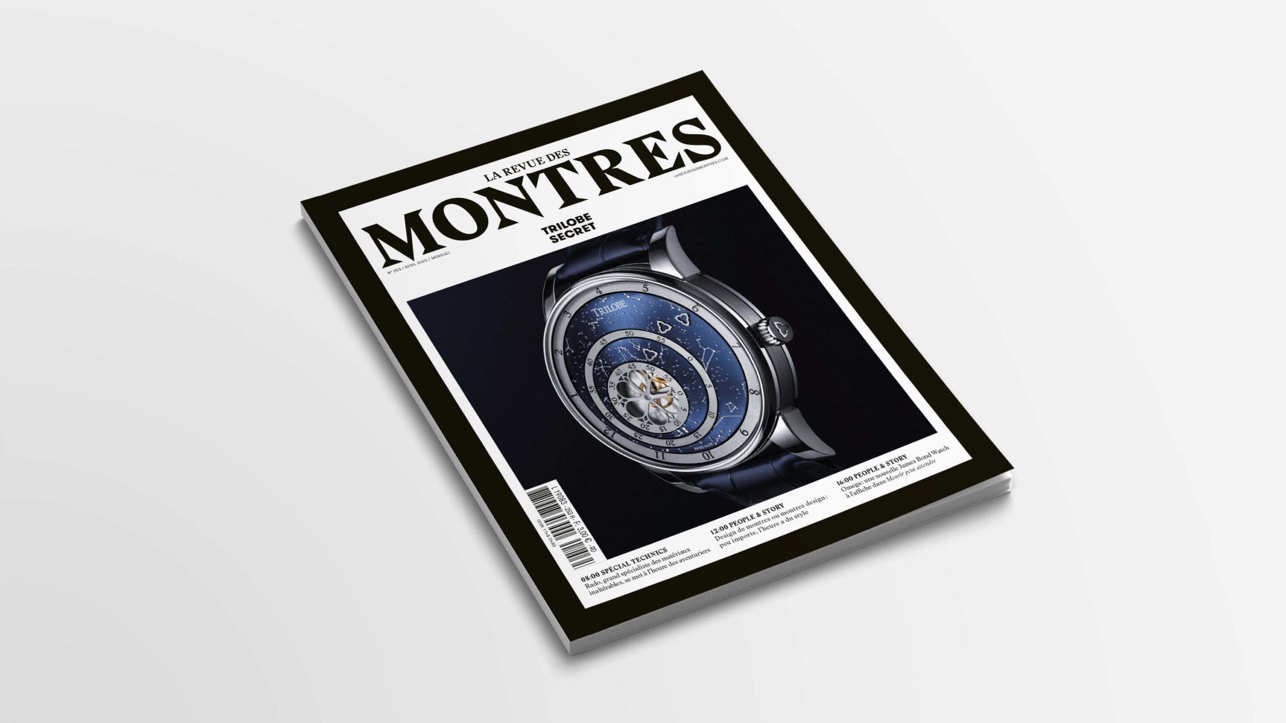 Article sur la marque de montres de luxe Trilobe dans la Revue des Montres