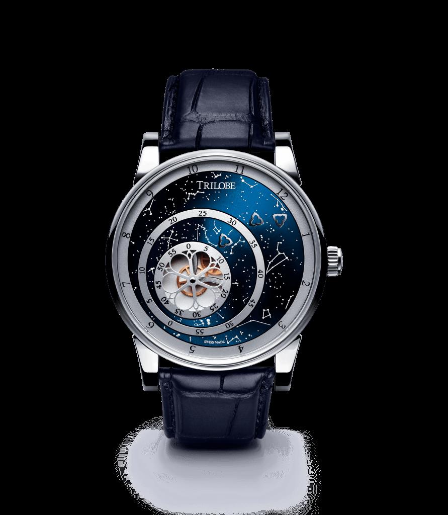 Soldat d'une montre automatique Trilobe de la collection Les Matinaux avec un cadran Bleu Secret