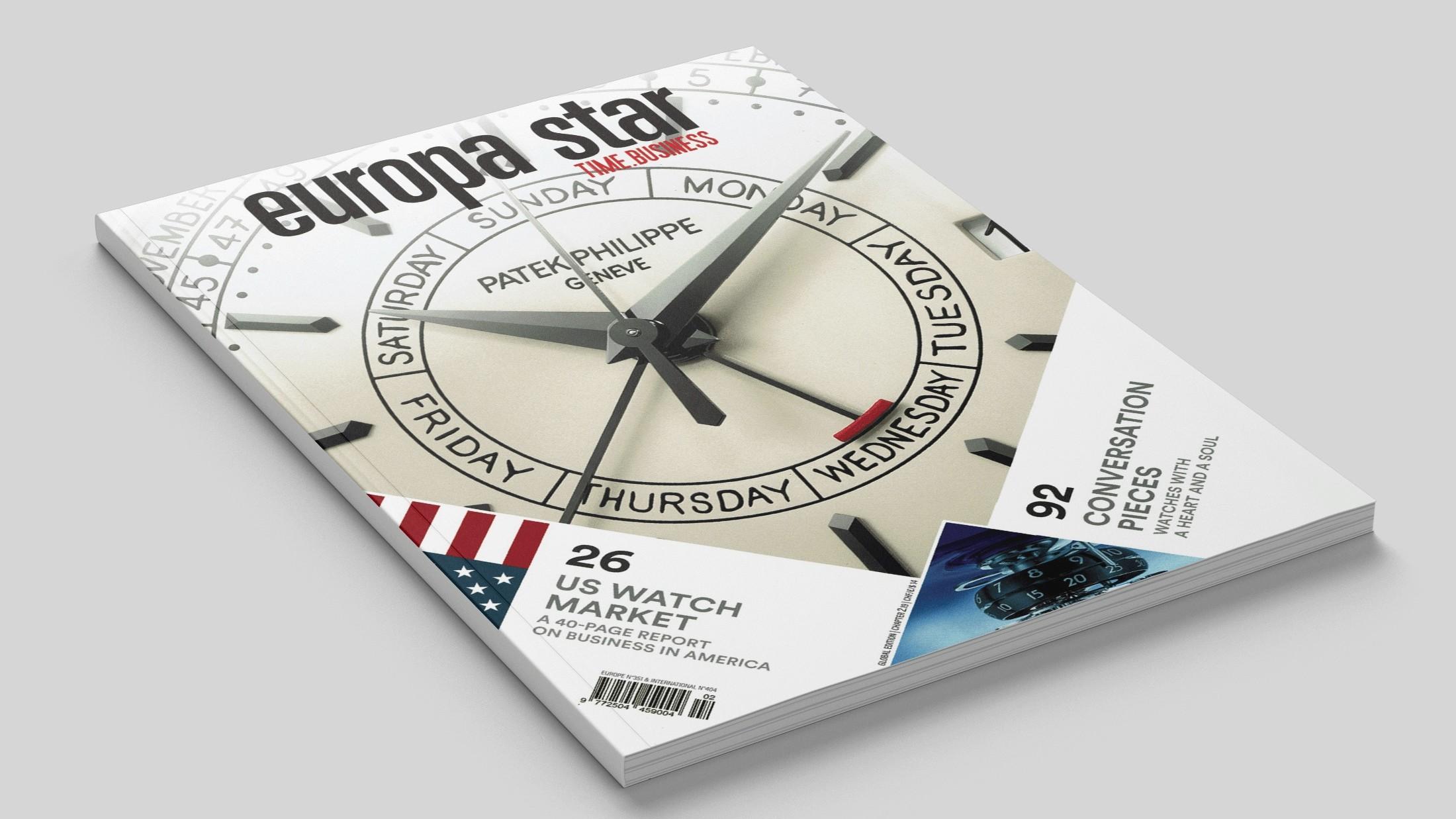 Article sur la marque de montres de luxe Trilobe dans le magazine Europa Star