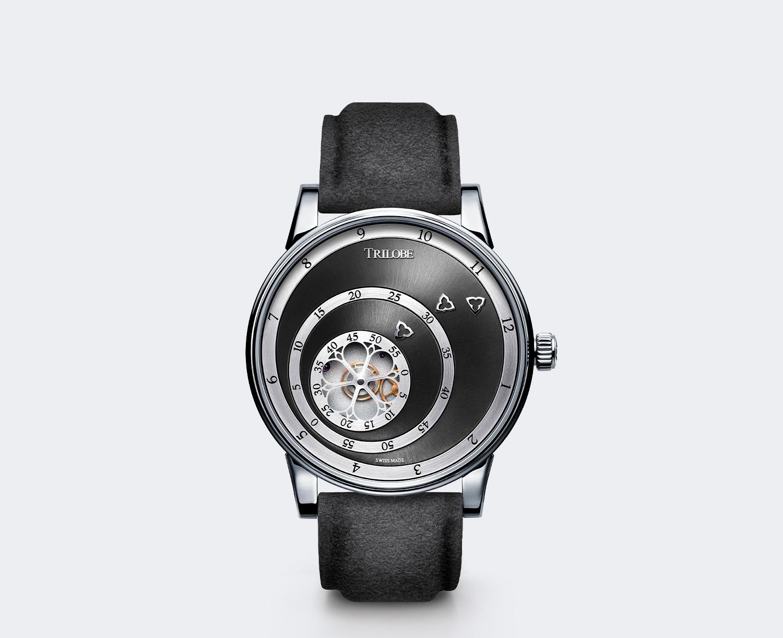 Soldat d'une montre automatique Trilobe de la collection Les Matinaux avec un cadran Gris Soleillé