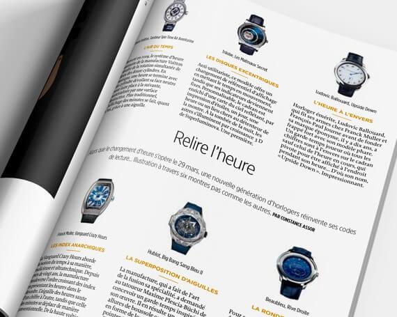 Article sur la marque de montres de luxe Trilobe dans le Magazine Le Point - Avril 2020