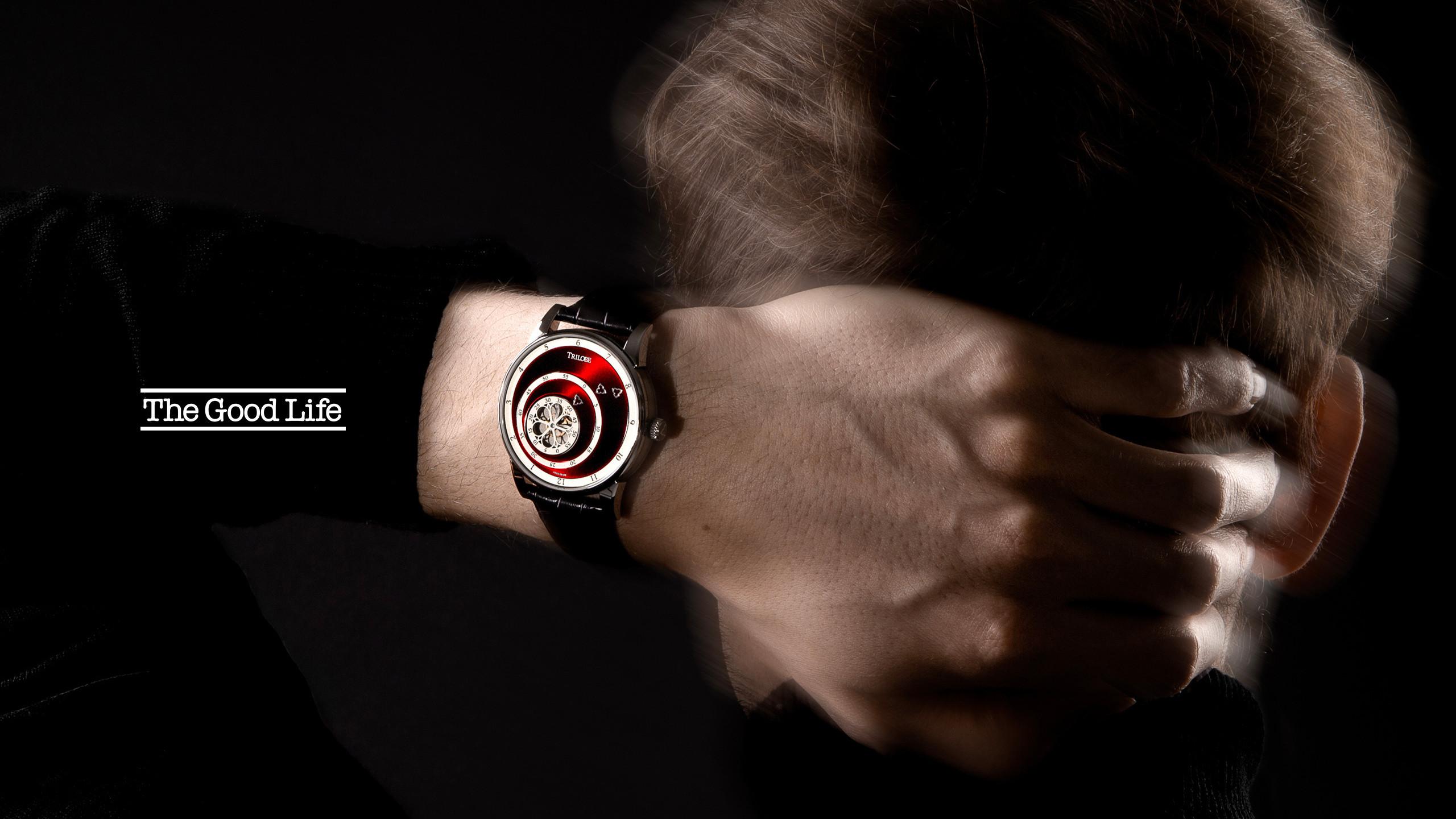 Article sur la marque de montres de luxe Trilobe dans le magazine The Good Life