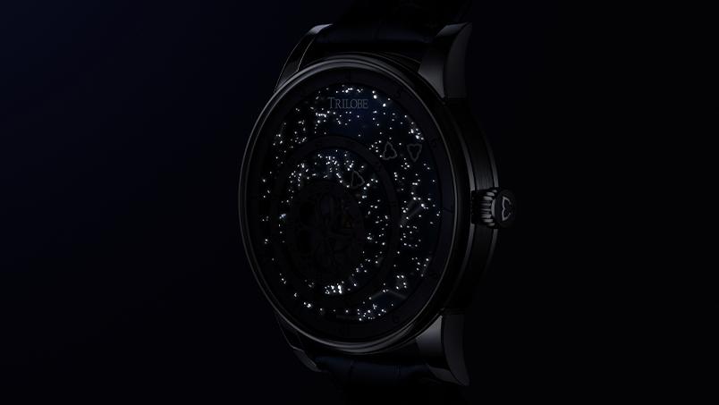 Vue de nuit de la montre Collection les matinaux secret