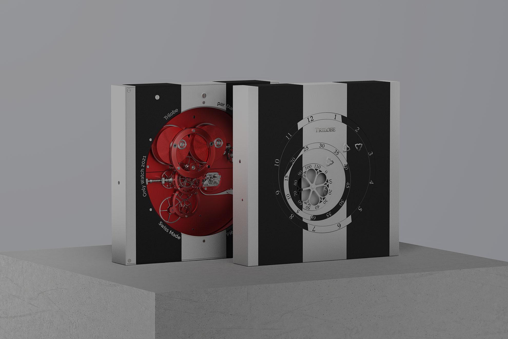 Horloge Trilobe par Daniel Buren, La Réciproque, développée à l'occasion de la vente Only Watch 2021